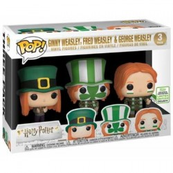 Figur Pop! ECCC 2019 Pop Harry Potter Ginny, Fred & George Weasley Quidditch World Cup 3-Pack Limited Edition Funko Online Sh...