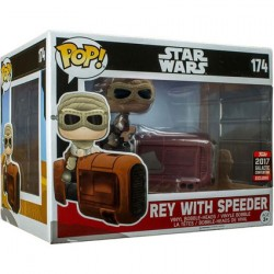 Figur Pop! Star Wars Celebration 2017 Deluxe Rey with Speeder Limited Edition Funko Online Shop Switzerland
