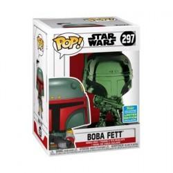 Figurine Pop! SDCC 2019 Star Wars Boba Fett Green Chrome Edition Limitée Funko Boutique en Ligne Suisse