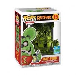 Figurine Pop! SDCC 2019 Rat Fink Green Chrome Edition Limitée Funko Boutique en Ligne Suisse