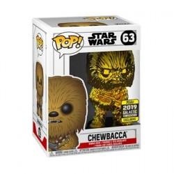 Figurine Pop! Star Wars 2019 Galactic Convention Chewbacca Gold Chrome Edition Limitée Funko Boutique en Ligne Suisse