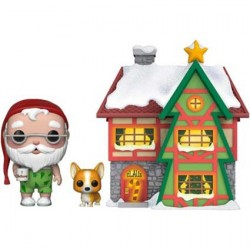 Pop! Town Holiday Santa's House with Santa and Nutmeg
