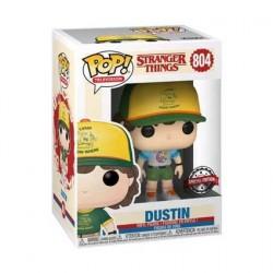 Figurine Pop! Stranger Things Dustin Arcade Cat Tee Edition Limitée Funko Boutique en Ligne Suisse