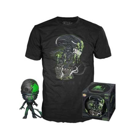 Figur Pop! and T-shirt Alien 40th Xenomorph Limited edition Funko Online Shop Switzerland