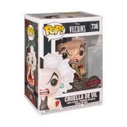 Figurine Pop! Disney Diamond 101 Dalmatiens Cruella Glitter Edition Limitée Funko Boutique en Ligne Suisse