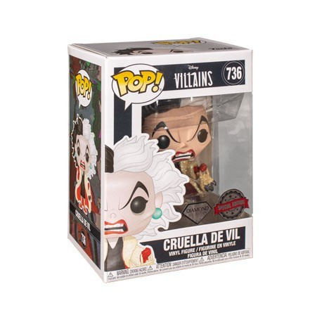 Figur DAMAGED BOX - Pop! Disney Diamond 101 Dalmatians Cruella Glitter Limited Edition Funko Online Shop Switzerland