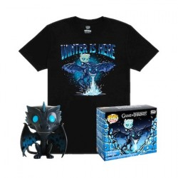 Figur Pop! and T-shirt Game of Thrones Icy Viserion Glow in the Dark Limited edition Funko Online Shop Switzerland
