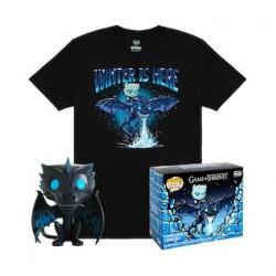 Figurine Pop! Phosphorescent et T-shirt Game of Thrones Icy Viserion Edition Limitée Funko Boutique en Ligne Suisse