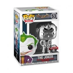 Figurine Pop! Batman Arkham Asylum The Joker Silver Chrome Edition Limitée Funko Boutique en Ligne Suisse