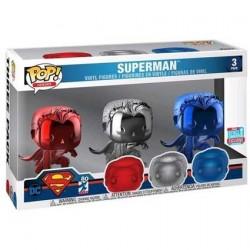 Figurine Pop! NYCC 2018 Superman Chrome 3-Pack Edition Limitée Funko Boutique en Ligne Suisse