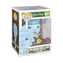 Figurine Pop! Phosphorescent Rick et Morty Hologram Rick Clone Edition Limitée Funko Boutique en Ligne Suisse