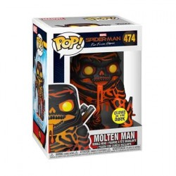 Figur Pop! Glow in the Dark Spider-Man Far From Home Molten Man Limited Edition Funko Online Shop Switzerland