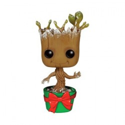 Figurine Pop! Métallique Marvel Les Gardiens de la Galaxie Holiday Snowy Dancing Groot Edition Limitée Funko Boutique en Lign...