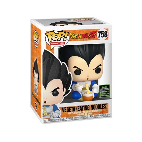 Figur Pop! ECCC 2020 Dragon Ball Z Vegeta eating Noodles Limited Edition Funko Online Shop Switzerland