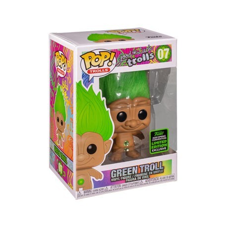 Figur Pop! ECCC 2020 Good Luck Trolls Green Troll Doll Limited Edition Funko Online Shop Switzerland