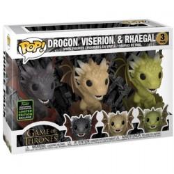 Figurine Pop! ECCC 2020 Game of Thrones Drogon Viserion Rhaegal in Eggs Edition Limitée Funko Boutique en Ligne Suisse
