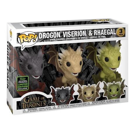 Figur Pop! ECCC 2020 Game of Thrones Drogon Viserion Rhaegal in Eggs Limited Edition Funko Online Shop Switzerland