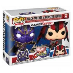 Figurine Pop! Marvel Black Panther vs Capcom Monster Hunter 2-Pack Edition Limitée Funko Boutique en Ligne Suisse