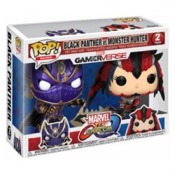Figur Pop Marvel Black Panther vs Capcom Monster Hunter 2-Pack Limited Edition Funko Online Shop Switzerland