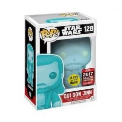 Figurine Pop! Phosphorescent Galactic Convention 2017 Star Wars Qui Gon Jinn Holographic Funko Boutique en Ligne Suisse