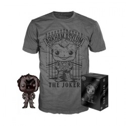 Figur Pop! and T-shirt DC Comics The Joker Chrome Limited edition Funko Online Shop Switzerland