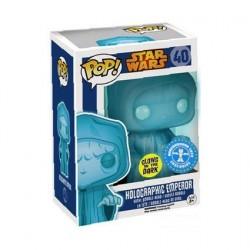 Figurine Pop! Phosphorescent Star Wars Holographic Emperor Edition Limitée Funko Boutique en Ligne Suisse