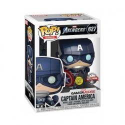Figurine Pop! Phosphorescent Marvel's Avengers (2020) Captain America Edition Limitée Funko Boutique en Ligne Suisse
