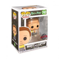 Figurine Pop! Rick et Morty Morty avec Laptop Edition Limitée Funko Boutique en Ligne Suisse