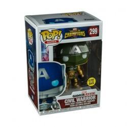 Figurine Pop! Phosphorescent Games Marvel Contest of Champions Civil Warrior Vert Edition Limitée Funko Boutique en Ligne Suisse