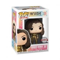 Figurine Pop! Métallique Wonder Woman 1984 Golden Armor sans Casque Edition Limitée Funko Boutique en Ligne Suisse