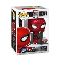 Figurine Pop! Métallique Spider-Man First Appearance 80th Anniversary Edition Limitée Funko Boutique en Ligne Suisse