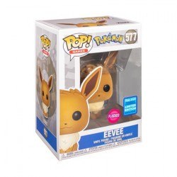 Figur Pop! Flocked WonderCon 2020 Pokemon Eevee Limited Edition Funko Online Shop Switzerland