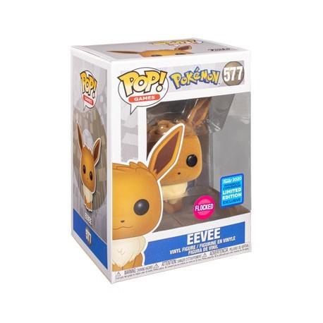 Figur Pop! Flocked WonderCon 2020 Pokemon Eevee Limited Edition Funko Online Shop Switzerland
