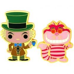 Figurine Pop! Pins Disney Alice In Wonderland Mad Hatter & Cheshire Cat Edition Limitée Funko Boutique en Ligne Suisse