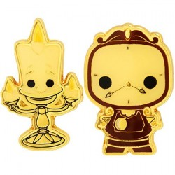 Figurine Pop! Pins Disney La Belle et le Bête Lumiere & Cogsworth Edition Limitée Funko Boutique en Ligne Suisse