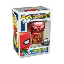 Figurine Pop! Iron Spider Rouge Chrome Edition Limitée Funko Boutique en Ligne Suisse