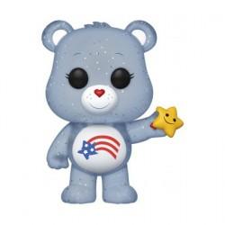 Figurine Pop! Bisounours America Cares Bear Glitter Edition Limitée (sans Autocollant) Funko Boutique en Ligne Suisse