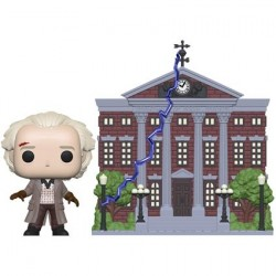 Figur Pop! 15 cm Town Back To The Future Dr. Emmett Brown with Clock Tower Funko Online Shop Switzerland