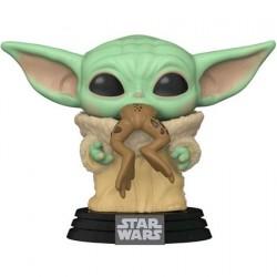 Figurine Pop! Star Wars The Mandalorian The Child avec Grenouille (Baby Yoda) Funko Boutique en Ligne Suisse