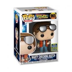 Figurine Pop! SDCC 2020 Marty McFly Checking Watch Edition Limitée Funko Boutique en Ligne Suisse