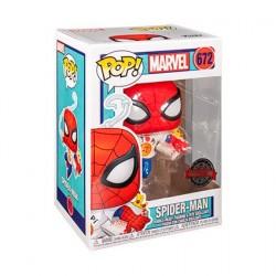 Figurine Pop! Marvel Spider-Man avec Pizza Edition Limitée Funko Boutique en Ligne Suisse