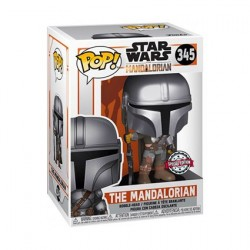 Pop! Chrome Star Wars The Mandalorian Edition Limitée