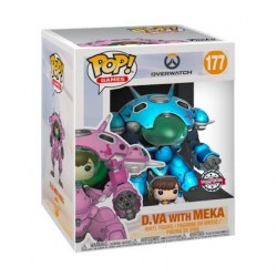 Figurine Pop! 15 cm Overwatch D.Va et Meka Blueberry Edition Limitée Funko Boutique en Ligne Suisse