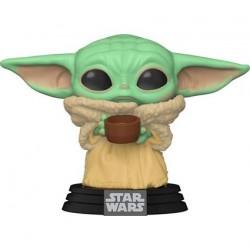 Figurine Pop! Star Wars The Mandalorian The Child avec Cup (Baby Yoda) Funko Boutique en Ligne Suisse