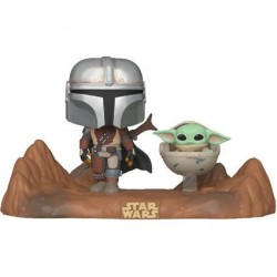Figurine Pop! Movie Moment Star Wars The Mandalorian Mandalorian & Child (Baby Yoda) Funko Boutique en Ligne Suisse