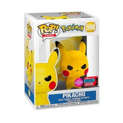 Figur Pop! NYCC 2020 Flocked Pokemon Pikachu Grumpy Limited Edition Funko Online Shop Switzerland