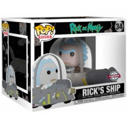 Figurine Pop! Rides Rick et Morty Space Cruiser Edition Limitée Funko Boutique en Ligne Suisse