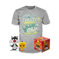 Figurine Pop! Floqué et T-shirt Looney Tunes Titi et Grosminet Edition Limitée Funko Boutique en Ligne Suisse