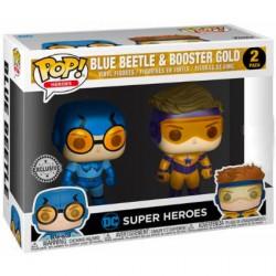 Figurine Pop! Métallique DC Heroes Blue Beetle et Booster Gold 2 Pack Edition Limitée Funko Boutique en Ligne Suisse