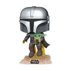 Figurine Pop! Star Wars The Mandalorian Mando Flying avec Baby Yoda en Jet Pack Funko Boutique en Ligne Suisse